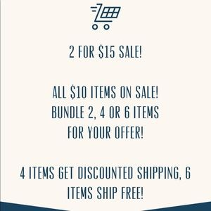 2 for $15 Sale!